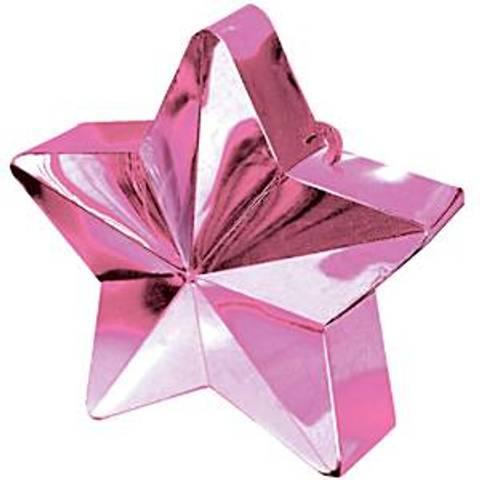 Bilde av Ballong Vekt Stjerne Rosa 168g