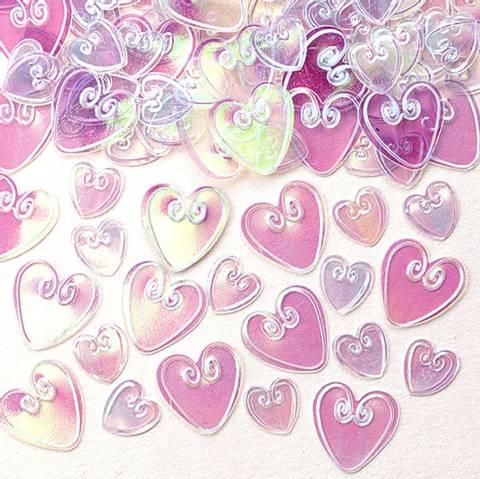 Bilde av Konfetti Iridescent Kjærlighet Hjerte 14g