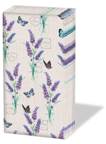 Bilde av Papirlommetørkle Lavendel 10 x 4stk