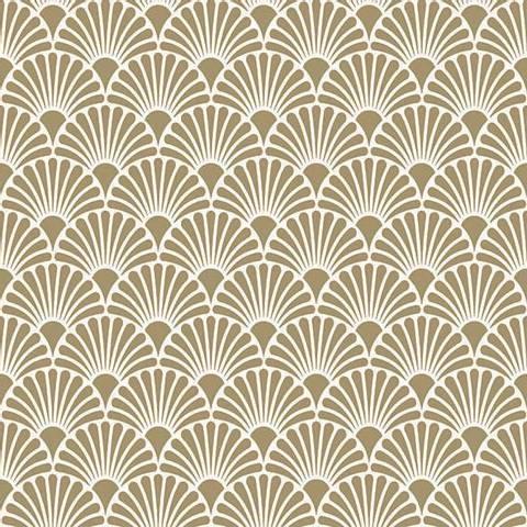 Bilde av Servietter Art Deco Gull Hvit Lunsj 33cm 20stk