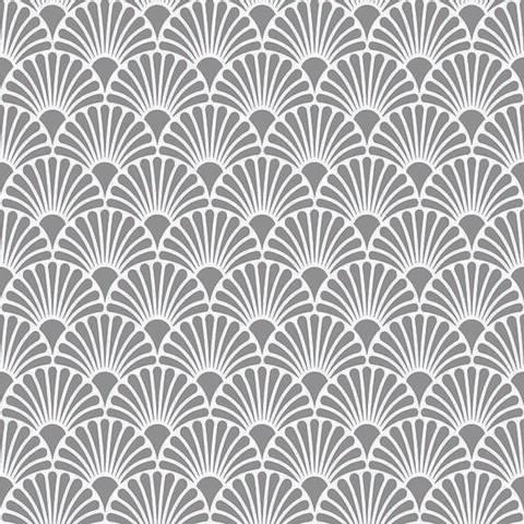 Bilde av Servietter Art Deco Sølv Hvit Lunsj 33cm 20stk