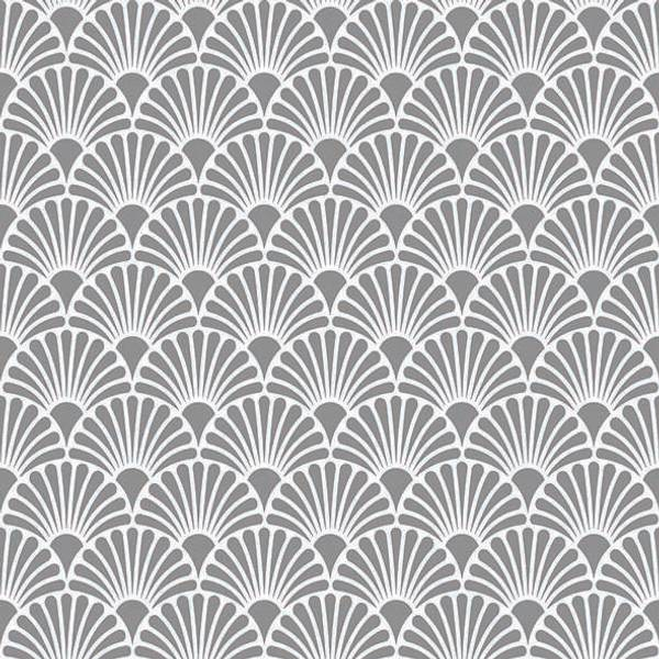 Servietter Art Deco Sølv Hvit Lunsj 33cm 20stk