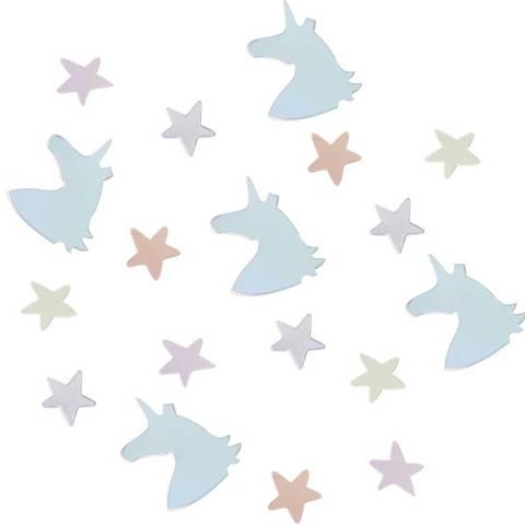 Bilde av Unicorn Wishes Irisiderende Unicorn & Stjerne Konfetti 14g