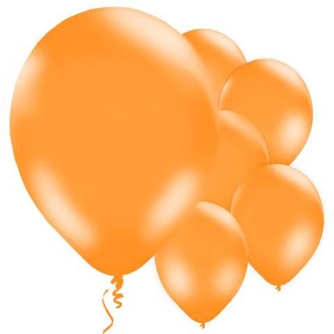 Bilde av Ballonger Orange Lateks 28cm 10stk