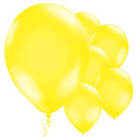 Bilde av Ballonger Gule Lateks 28cm 10stk