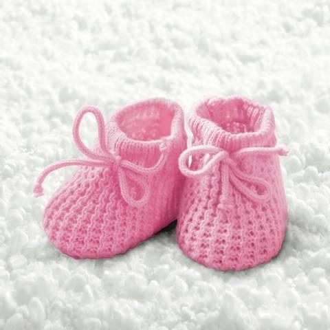 Bilde av Servietter Baby Jente Sokker 25cm 20stk