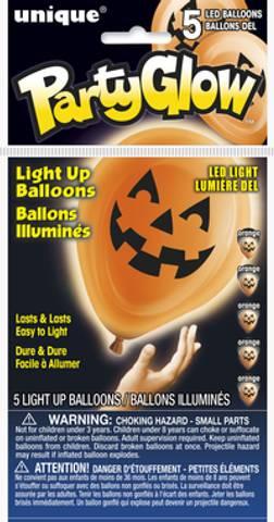 Bilde av Halloween Ballonger Led-Light 5stk