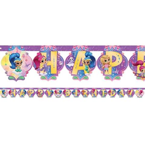 Bilde av Shimmer & Shine Happy Birthday Bokstav Banner 2m