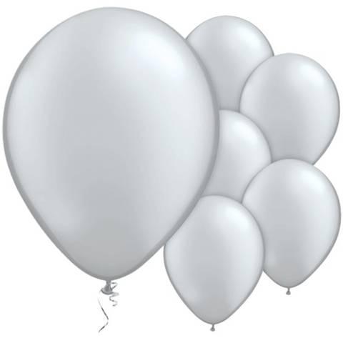 Bilde av Ballonger Sølv Metallic Lateks 28cm10stk